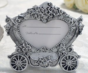 Heart-Shaped Carriage Place Card Frame image