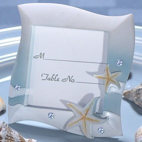 Blue Colored Beach Place Card Frame image