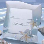 Blue Colored Beach Place Card Frame