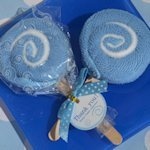 Sweet Treats Blue Lollipop Towel Favor
