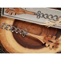 Chrome Hearts Handle Stylish Bamboo Pasta Server Favors
