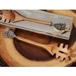 Chrome Grapes Handle Rustic Bamboo Pasta Server Favors