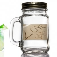 Love on the Beach Mason Jar Favors