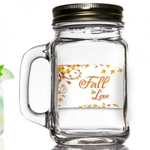 Fall in Love Design Mason Jar Favors image