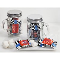 40th Birthday Mint Candy Favors with Mason Jar