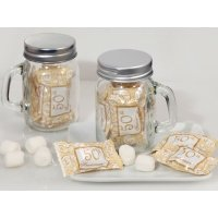 50th Anniversary Mint Candy Favors with Mason Jar