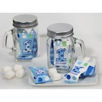 First Birthday Mint Candy Favor Mason Jars (Boy or Girl)
