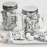 Live Love and Laugh Mason Jar Mint Candy Favors