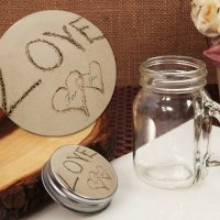 Love on the Beach Vintage Mini Mason Jar Favor