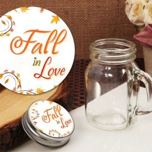 Fall in Love Vintage Mini Mason Jar Favor image