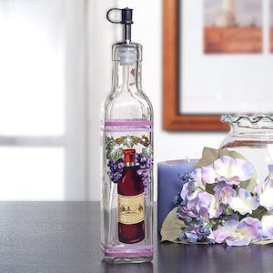 Red Wine Motif Glass Oil Bottle image