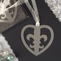 Fleur De Lis Heart Wedding Favors Bookmarks