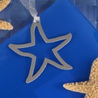 Starfish Silhouette Bookmark Favor