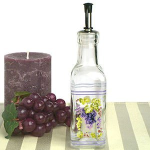Grapes Design Mini Olive Oil Bottle Wedding Favors image