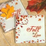 Fall in Love Glass Coasters
