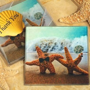 A Perfect Pair Beach Themed Glass Coasters image