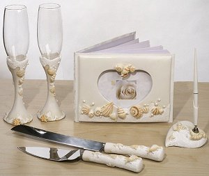 Beach Themed Wedding Reception Accessory Set image