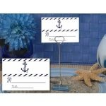 Nautical Design Place Card with Metal Place Card Holder