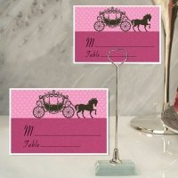Princess Coach Design Place Card with Metal Holder