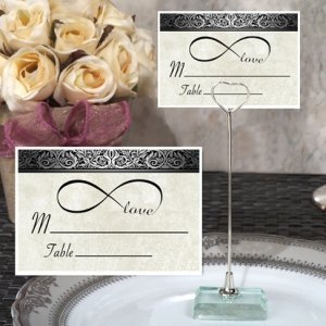 Infinite Love Place Card with Metal Place Card Holder image