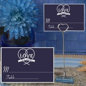Anchored in Love Place Card with Metal Holder image