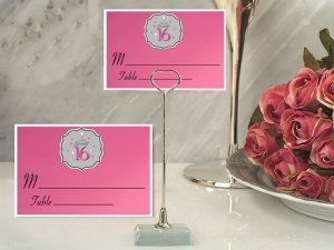 Sweet 16 Place Card with Metal Holder image