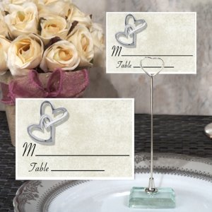 Hearts Entwined Place Card with Metal Holder image