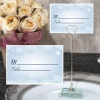 Winter Wonderland Place Card with Metal Holder