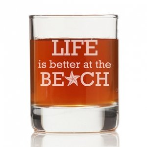 Life is Better At The Beach Rock Glasses (Set of 4) image
