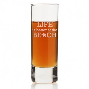 Life is Better At The Beach Tall Shot Glass (Set of 4) image