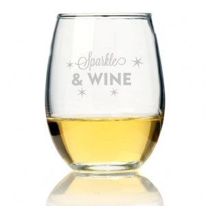 Sparkle And Wine Stemless Wine Glass (Set of 4) image