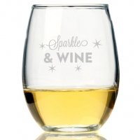 Sparkle And Wine Stemless Wine Glass (Set of 4)