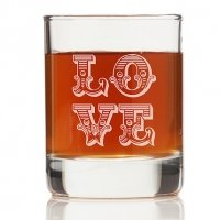 Love Ornate Rock Glasses (Set of 4)