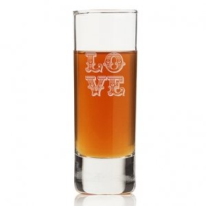 Love Ornate Tall Shot Glass (Set of 4) image