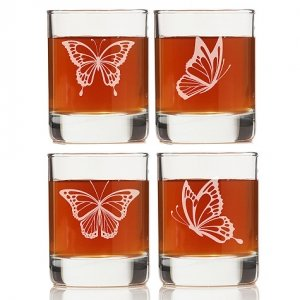 Butterflies Rock Glasses (Set of 4) image