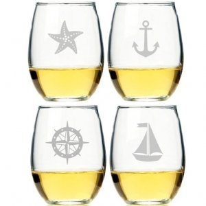 Nautical Collection Stemless Wine Glass (Set of 4) image