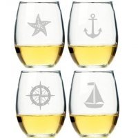Nautical Collection Stemless Wine Glass (Set of 4)