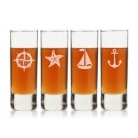 Nautical Collection Tall Shot Glass (Set of 4)