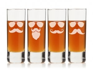 Mustache and Sunglasses Tall Shot Glass (Set of 4) image