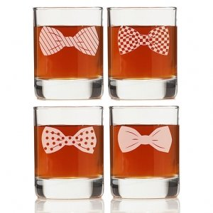 Bowties Collection Rock Glasses (Set of 4) image