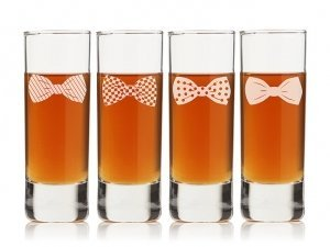 Bowties Collection Tall Shot Glass (Set of 4) image
