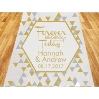 Forever Begins Today Personalized Wedding Aisle Runner