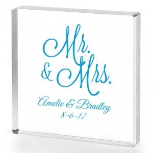 Mr. and Mrs. Personalized Acrylic Cake Topper image