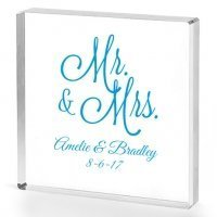 Mr. and Mrs. Personalized Acrylic Cake Topper