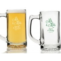 Mr. and Mrs. Personalized Beer Mugs