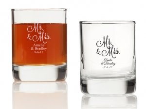 Mr. and Mrs. Personalized Votives or Shot Glass image