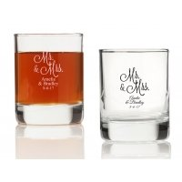 Mr. and Mrs. Personalized Votives or Shot Glass