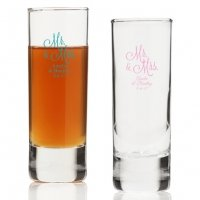 Mr. and Mrs. Personalized Tall Shot Glass