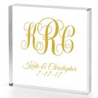 Intertwined Monogram Personalized Acrylic Cake Topper