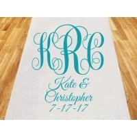 Intertwined Monogram Personalized Wedding Aisle Runner